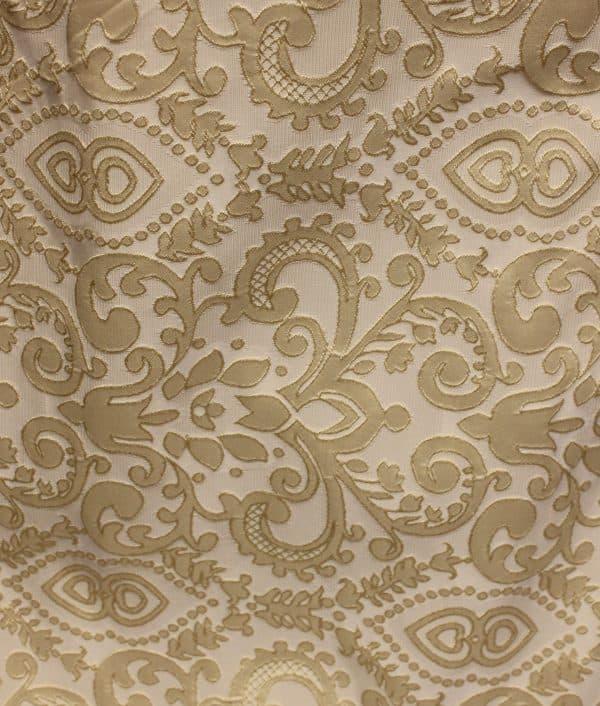 Ткань портьерная жаккардовая, плотность 180 г/м² 197-14-300 Золотистая 35.0 BYN
