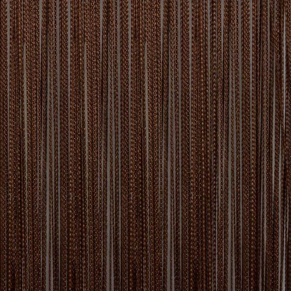 Кисея из нитей темно-коричневая