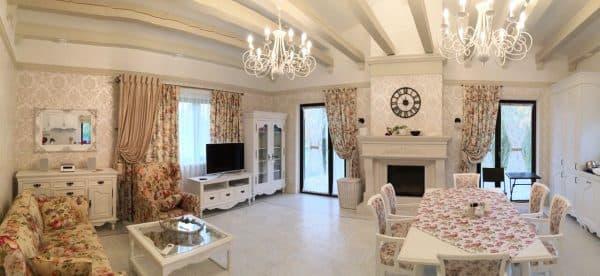 Комбинированные шторы для гостиной