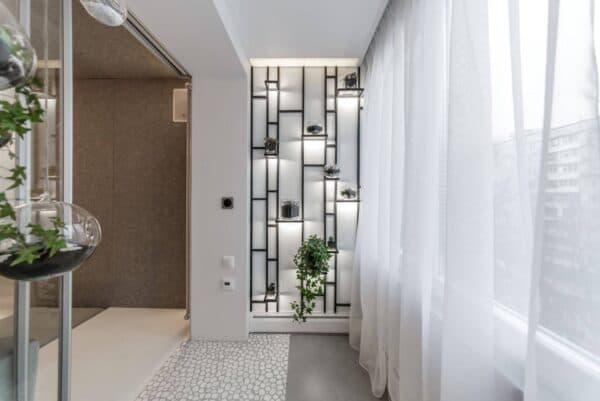 Дизайн штор для балкона